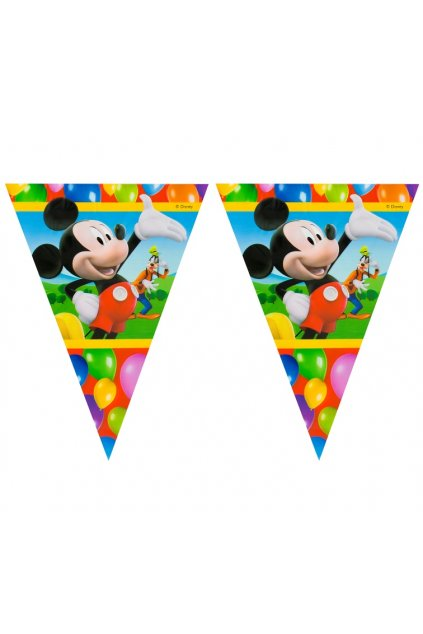 banner playful mickey flags