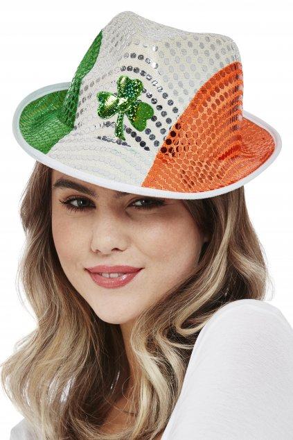Klobouk v barvách Irska s čtyřlístkem - Saint Patrick's Day