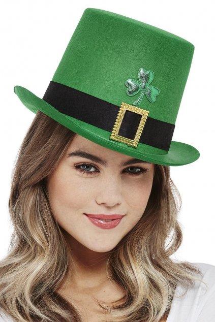 Zelený cylindr s čtyřlístkem - Saint Patrick's Day