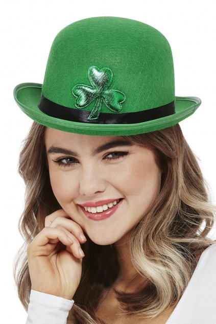Zelená buřina s čtyřlístkem - Saint Patrick's Day