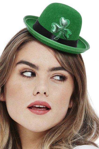 Zelená mini buřina s čtyřlístkem - Saint Patrick's Day