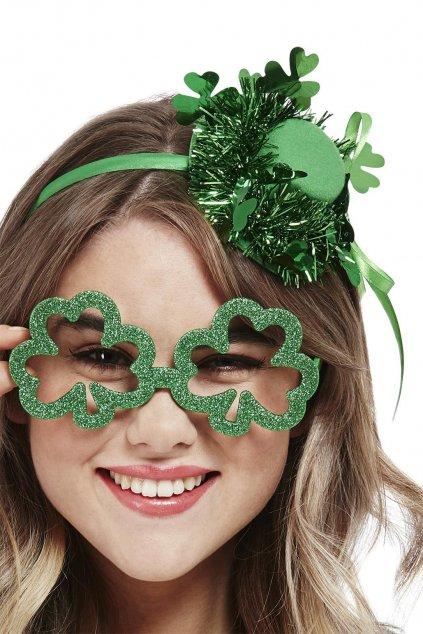Zelené brýle čtyřlístek - Saint Patrick's Day