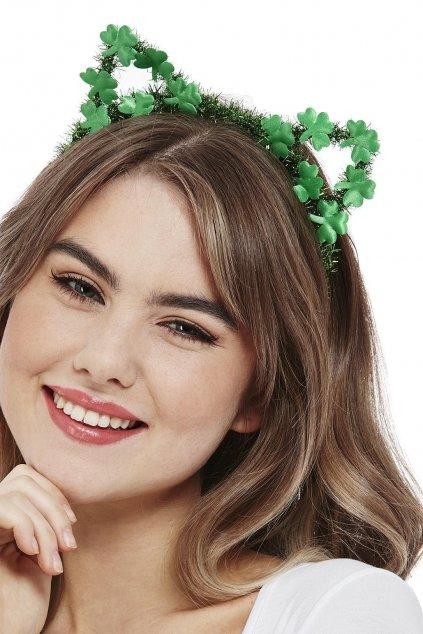 Zelené uši pro kočičku - Saint Patrick's Day