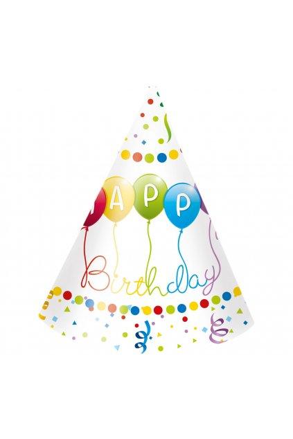 czapeczki papierowe happy birthday streamers 6