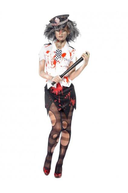 Kostým zombie policistky