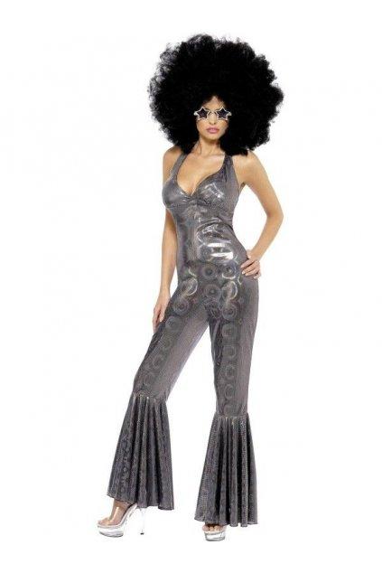Kostým - Silver Diva - 70' - výprodej z půjčovny