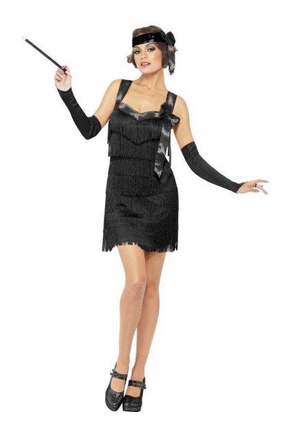 Kostým Flapper černý - výprodej z půjčovny