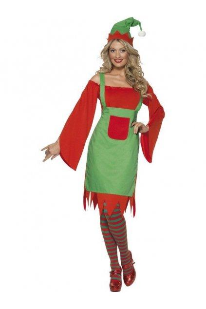 Kostým - Elfka s čepicí - výprodej z půjčovny