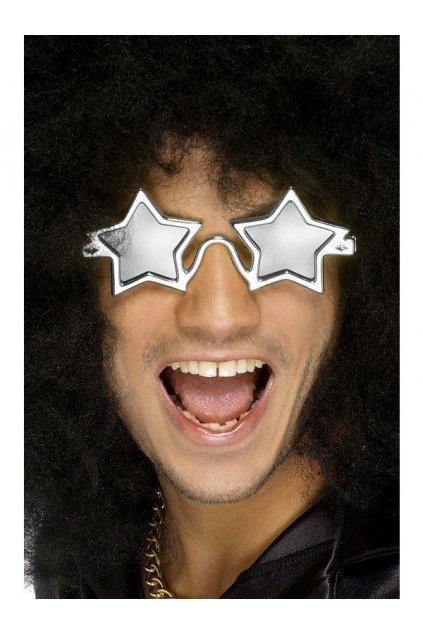 Brýle Superstar - stříbrné hvězdy výprodej