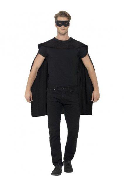 Černý plášť s maskou - výprodej