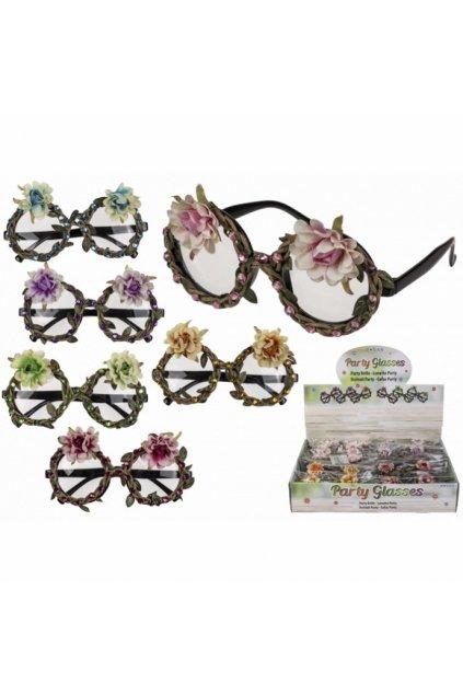 Párty brýle s květinami a kamínky - Havaj