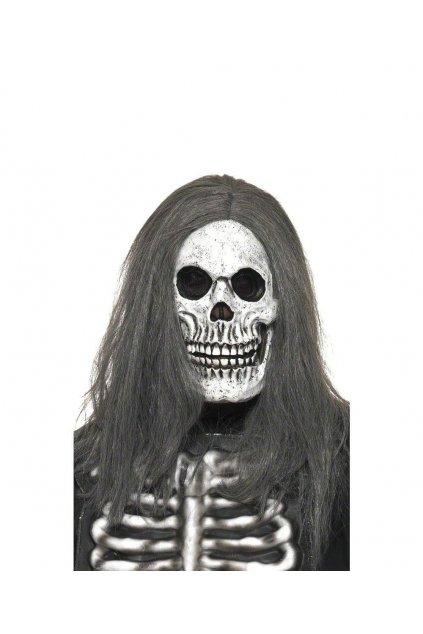 Maska smrtky s vlasy - výprodej