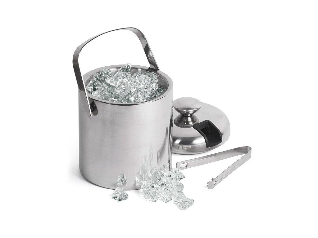 Dvojstenné vedro na ľad + kliešte