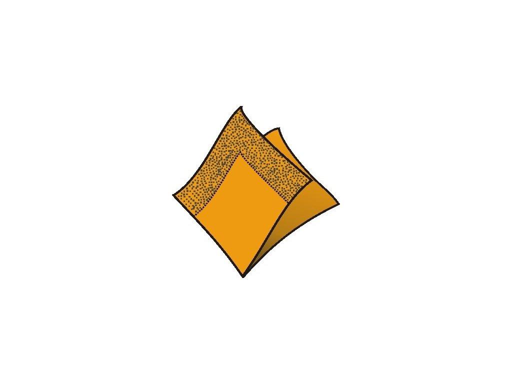 Servítky 24x24cm 2-vrstvové 4f 250ks oranžové