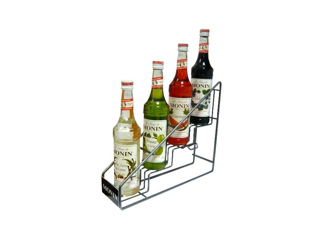 Monin Syrup rack na 4 fľaše