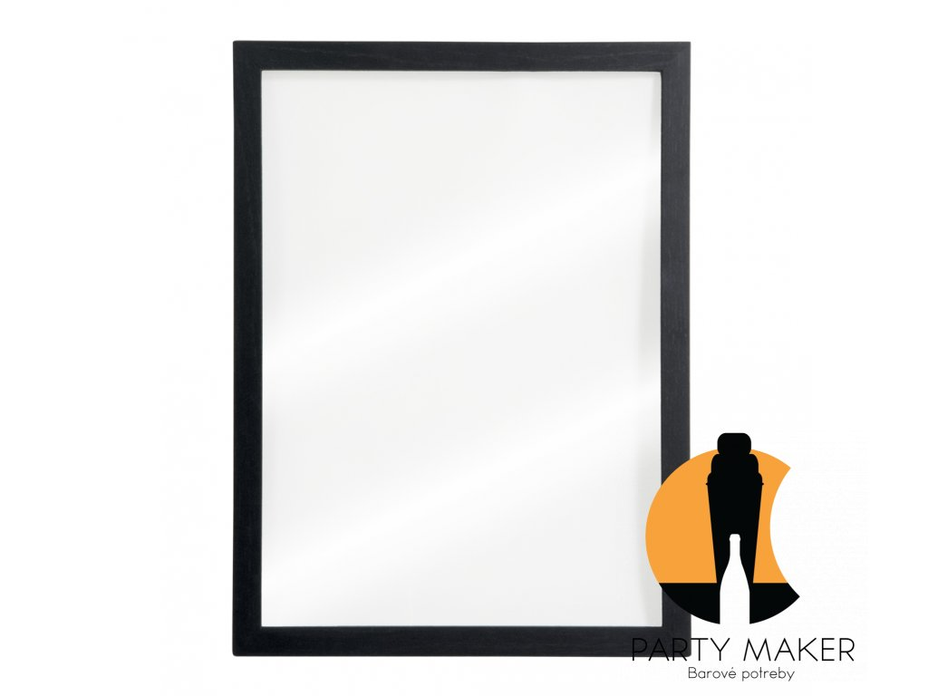 tabule securit woody transparent nastenna na popis kridovym popisovacem 40 x 60 cm black popisovac dalsi obrazek big ies11632069