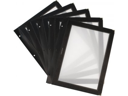 Vložky do jedálnych lístkov Wood - set (x5)