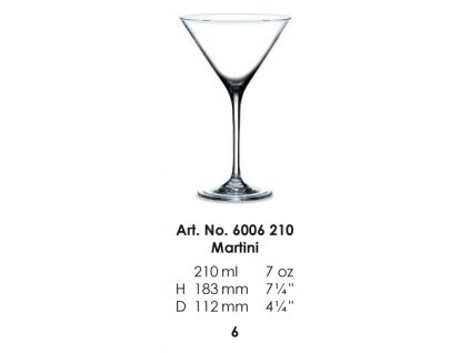 Martini pohár CITY 210ml