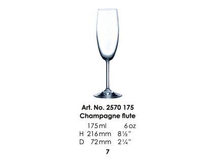 Pohár na šampanské GALA 175ml
