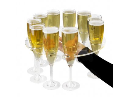 Servírovacia tácka na šampanské