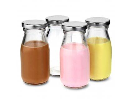 Mini mliekové fľaše s vrchnákom 200ml