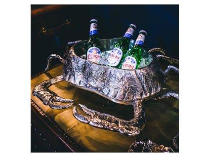 Držiak na vínové fľaše v tvare kraba