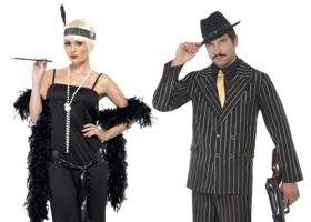 Šaty a kostýmy 20. - 30. léta, charleston a mafiáni