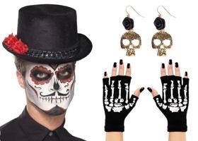 Doplňky a dekorace na Den mrtvých (Sugar Skull)