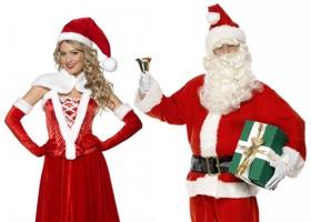Vánoční kostýmy - Santa Claus, Elfové