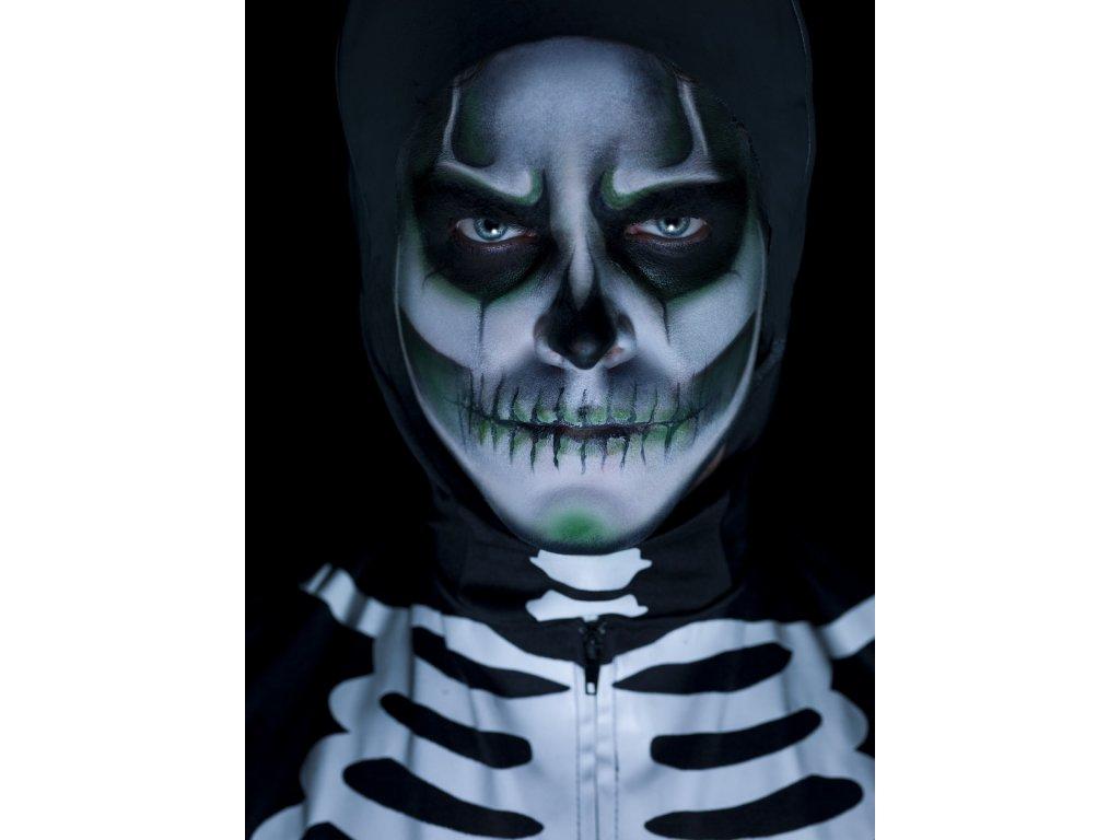 Make-up Kostlivec svítící ve tmě