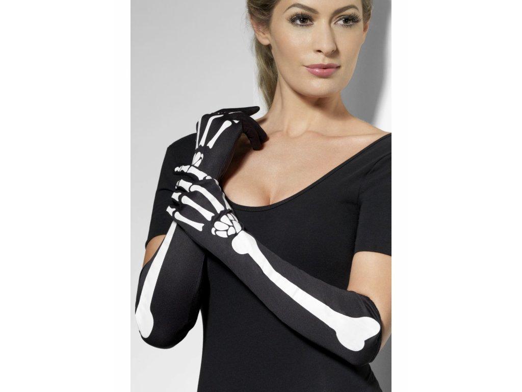 Dlouhé rukavice Kostlivec