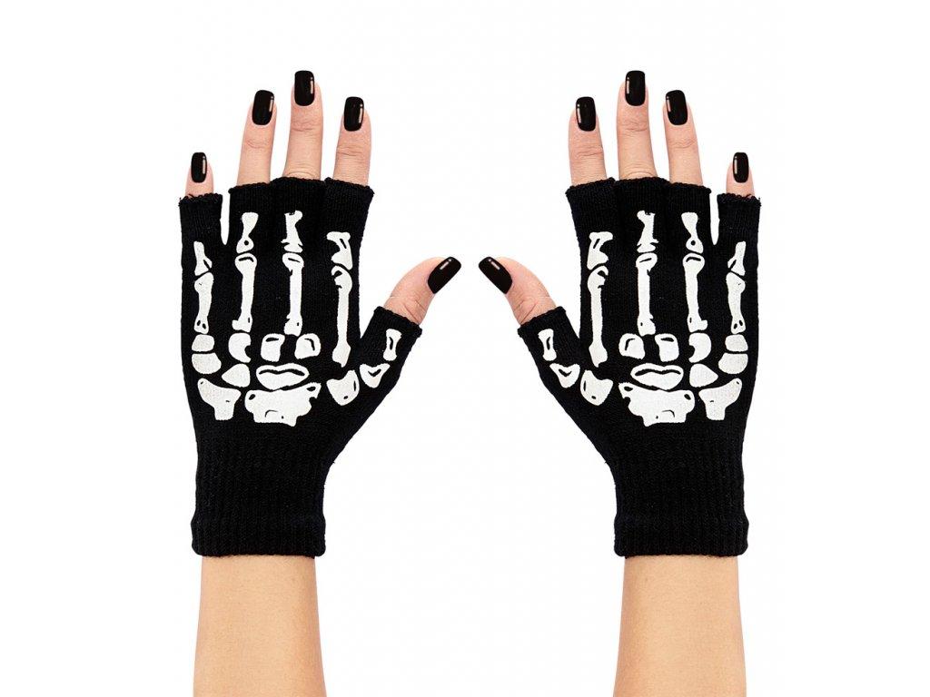 Bezprsté rukavice kostlivec