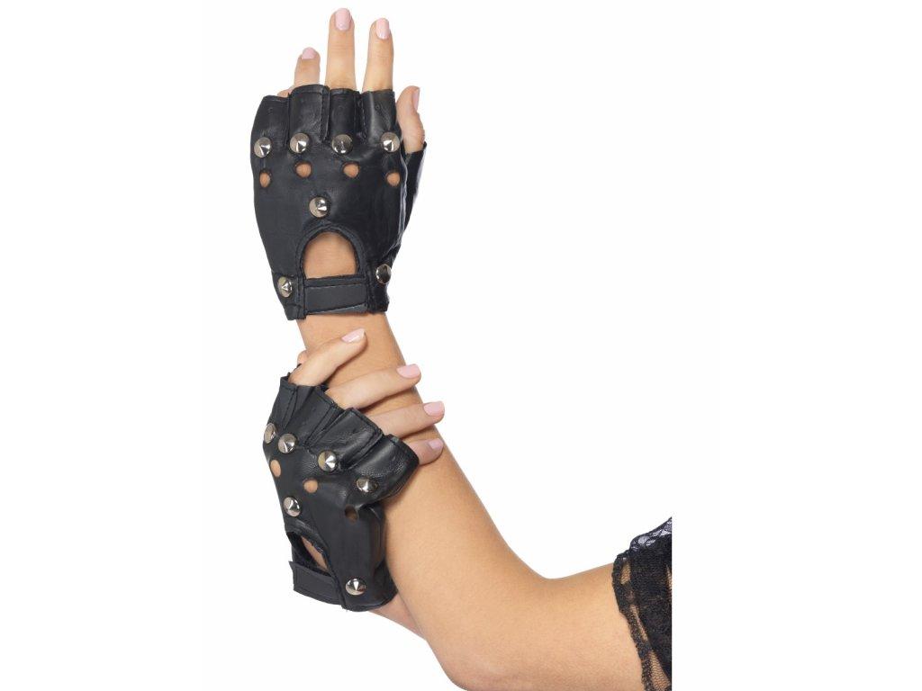 Černé rukavice s cvočky