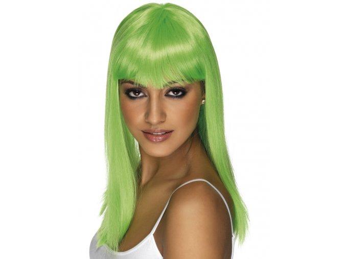Dámská paruka zelená Neon
