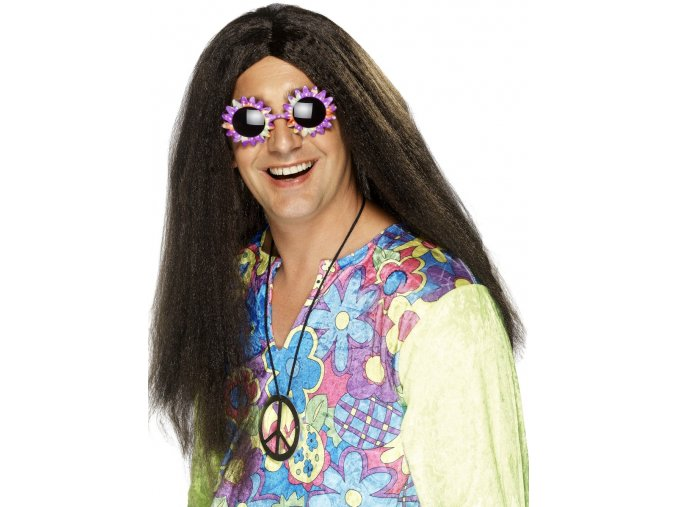Pánská paruka Hippies hnědá