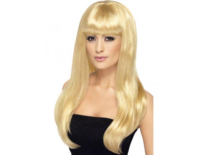 Dámská paruka dlouhá s ofinou blond