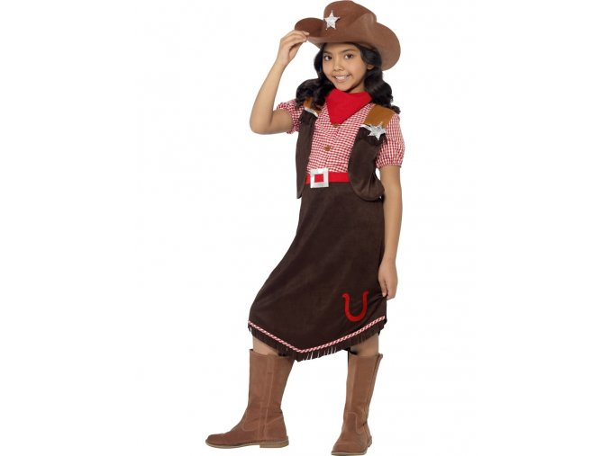 Dětský kostým Kovbojka hnědá