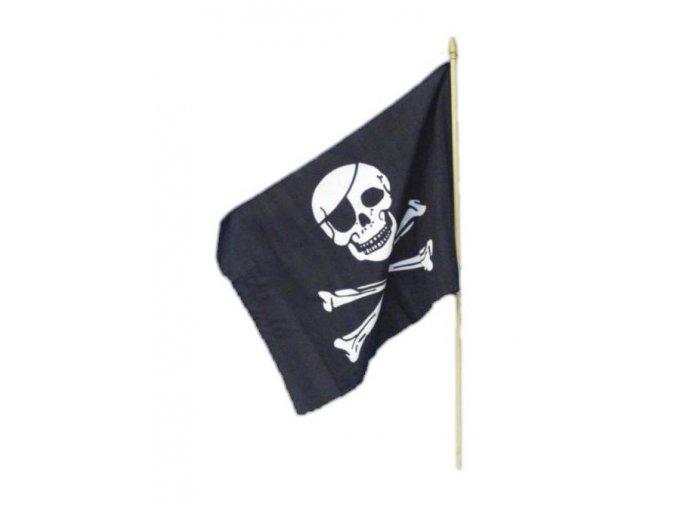 Pirátská vlajka 30x45cm s tyčkou