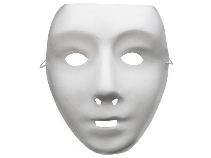 Bílá maska k domalování dětská