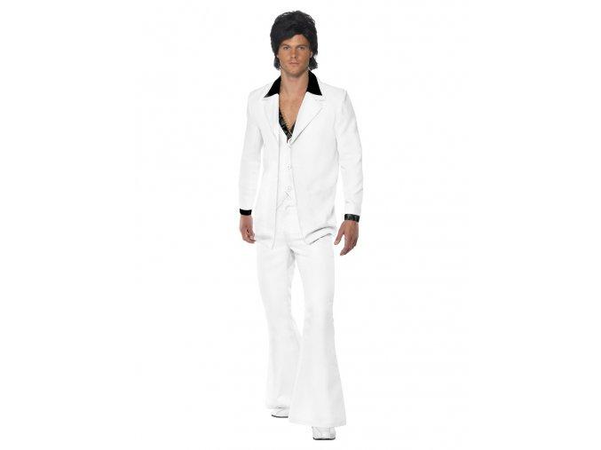 Pánský Disco kostým 70.léta bílý