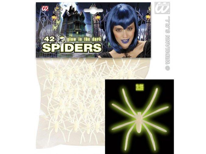 Svítící pavouci (42ks)