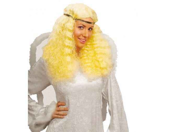 Andělská paruka blond