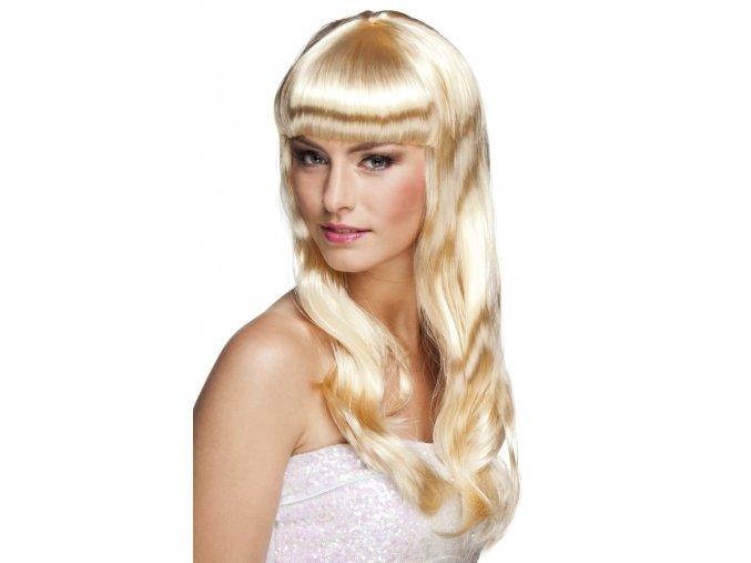 Dámská paruka blond s ofinou