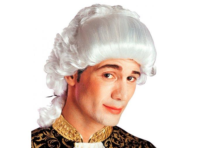 Bílá paruka Baroko hrabě
