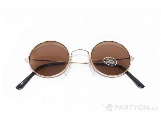 Brýle lenonky hnědé
