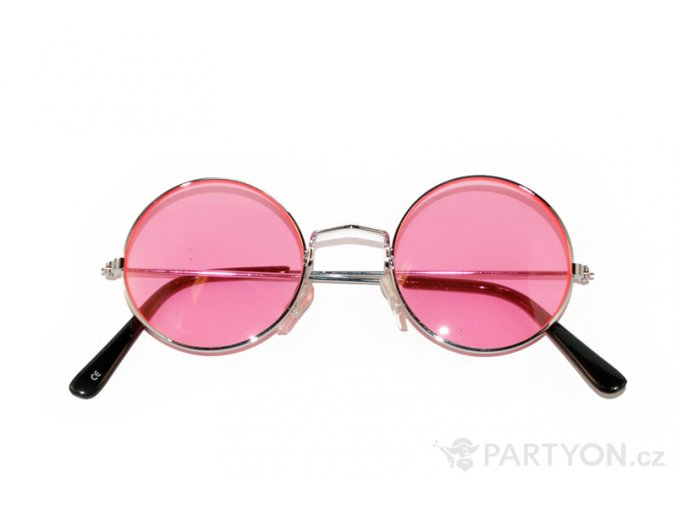 Brýle lenonky růžové