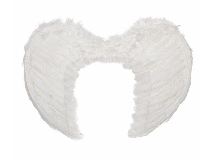 Andělská křídla bílá střední 50x40cm
