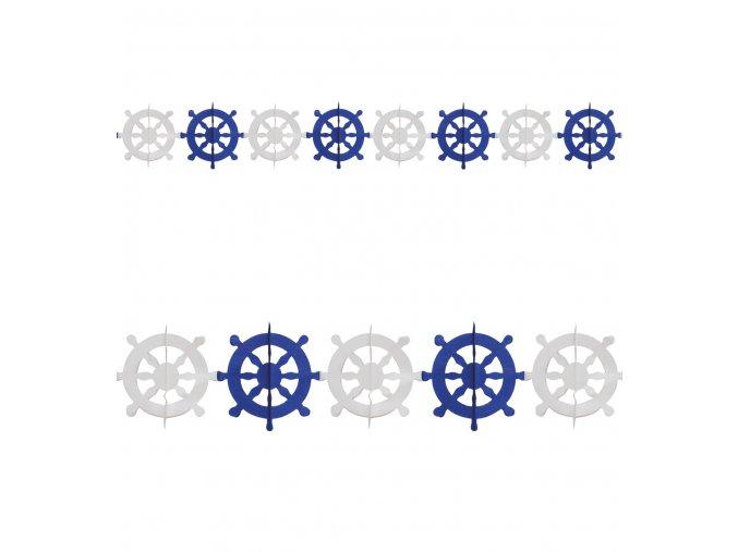 Námořnická girlanda Kormidlo 3m