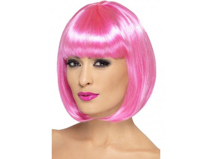 Dámská paruka Mikádo candy pink