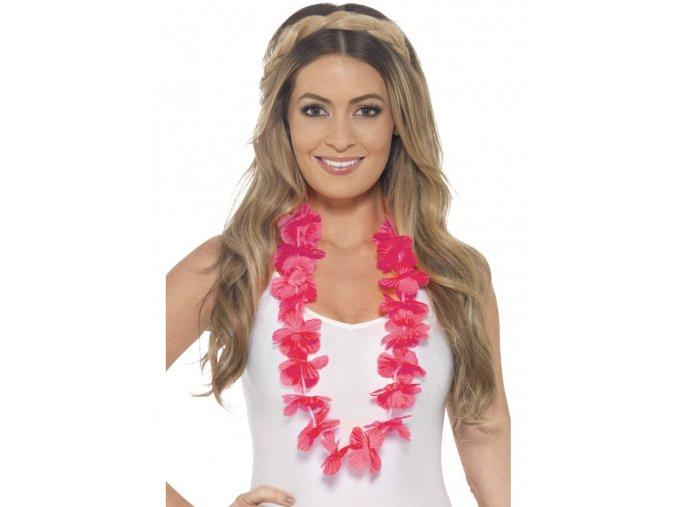 Havajský věnec růžový zářivý
